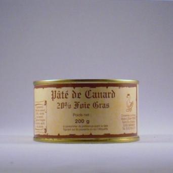 Pâté de canard 20% Foie gras